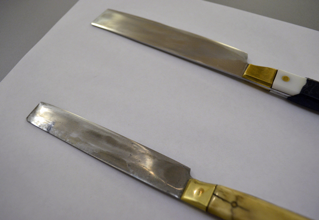 Even the knives used in the kosher slaughtering of animals must follow specific guidelines, such as the square, not pointed, top, and the sharpness of the blade. (News21-National)