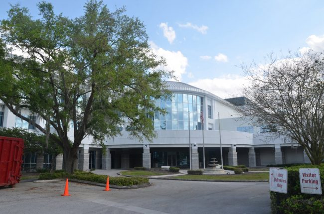 The Lakeland Ledger had nearly 100 employees when its newsroom took up the entire third floor of the newspaper's new building on West Lime Street in 1998. The floor has been leased to Publix since 2016, and the latest cuts in what's left of the newsroom have reduced the Ledger's ranks to 16 journalists. (© FlaglerLive)