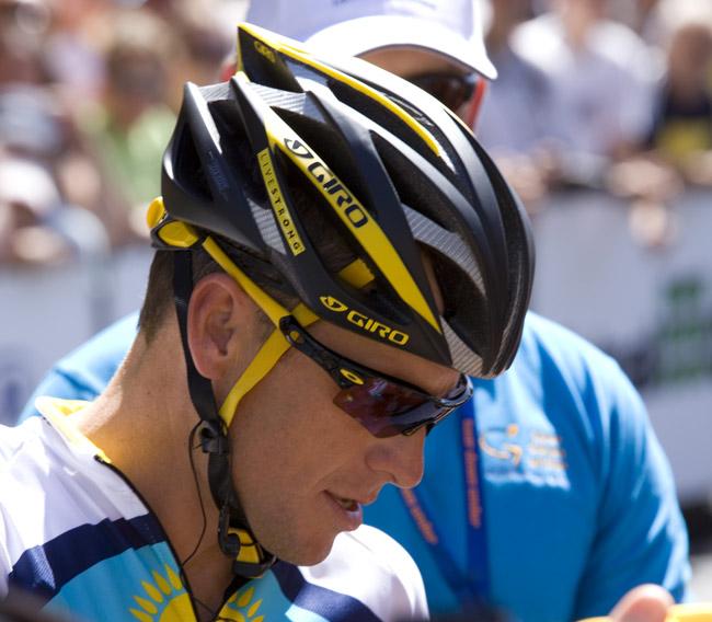 Lance Armstrong, still running.
