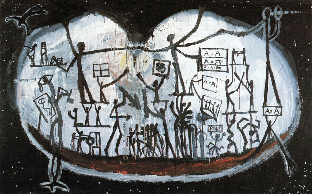 A.R. Penck's 'Large World Picture' (1965).