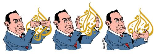 mubarak censorship al-jazeera