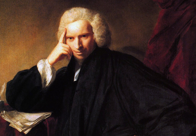 Laurence Sterne, godfather of the author's  name.