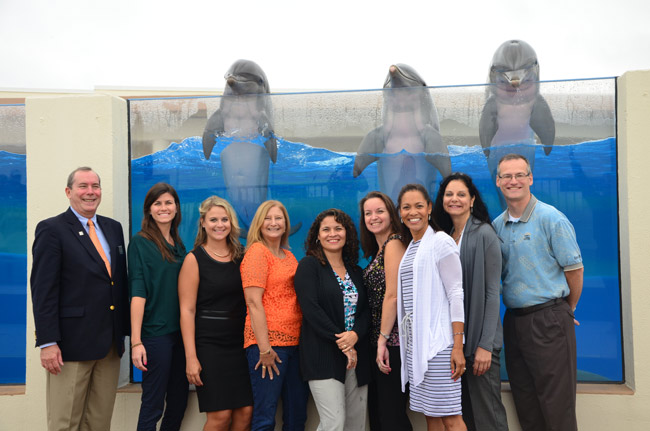 They have fun, too: members of the Leadership Flagler 21 class. (Flagler County Chamber of Commerce)