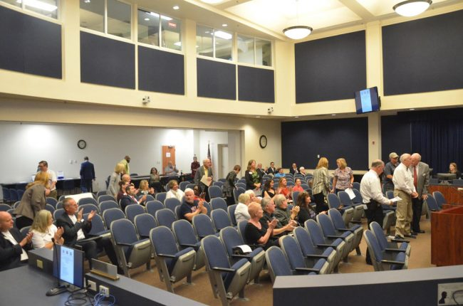 The meeting was not as heavily attended as in some past years, when particular controversies (like the short-term rental issue of a few years ago) would bring out larger crowds. (© FlaglerLive)