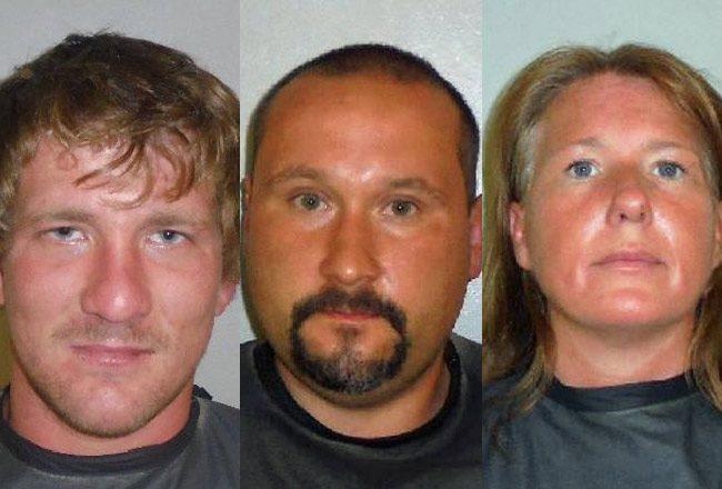 From left, Randy Blyth, 23, John Kodak, 32, and Jennifer Caufield, 40.