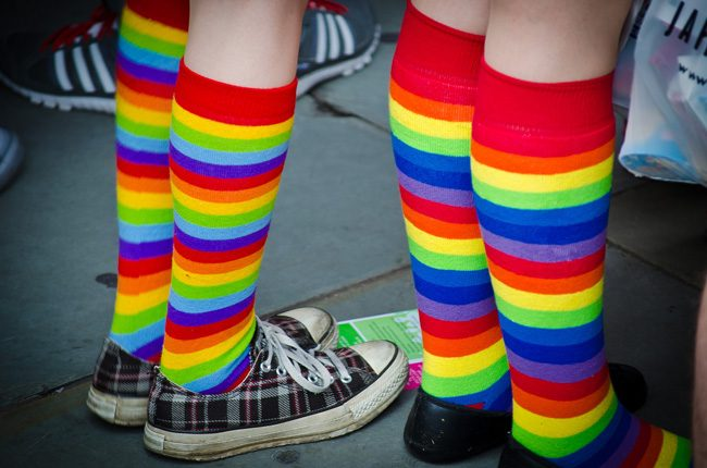 What used to be Gay and Lesbian LGBT Pride Month and is now LGBT Pride Month kicks off June 1: look for events near you and show pride--or respect. (Garry Knight)