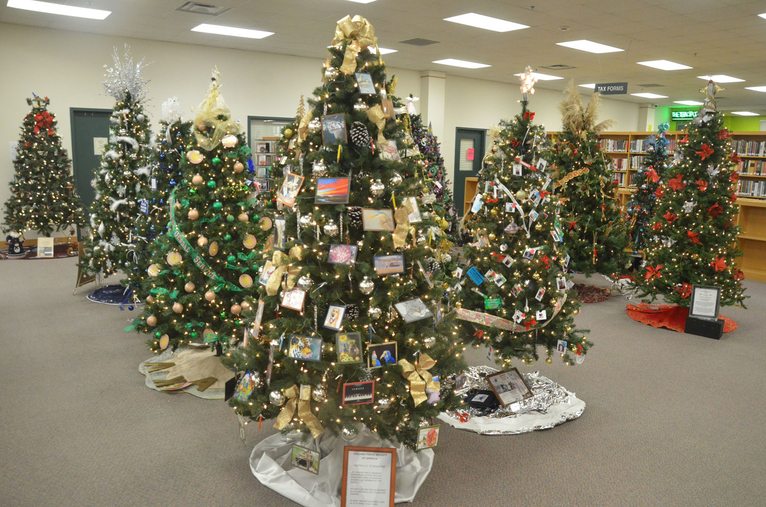 The Flagler County Public Library opens its annual Festival of Trees Friday at 6 p.m. See details below. (© FlaglerLive)