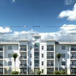 A rendering of one of the Lighthouse Habor Luxury Apartments.