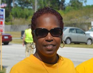 NAACP Flagler Branch President Linda Sharpe-Matthews. (© FlaglerLive)
