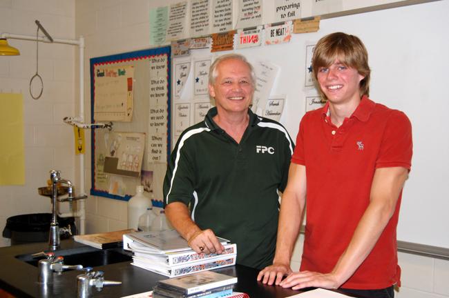 Jim Pignatiello and Rowan Littlefield, flagler palm coast high school