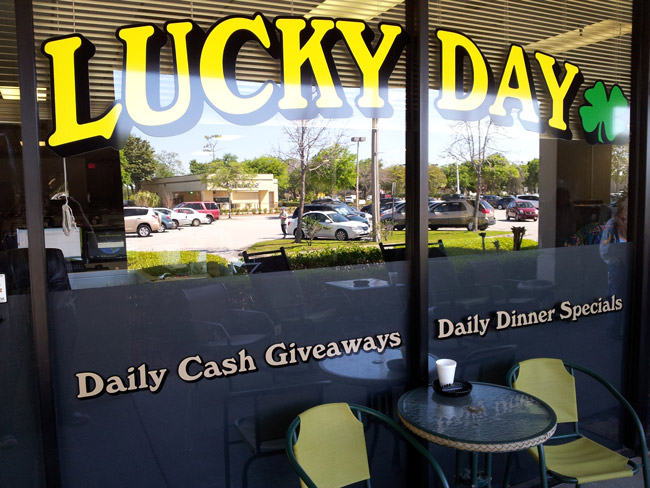 Lucky no more: The Lucky Day Internet cafe at the Winn-Dixie shopping center in Palm Coast. (© FlaglerLive)