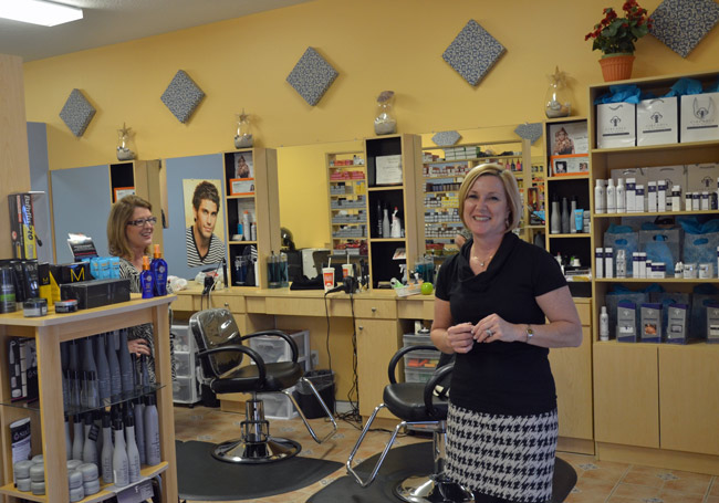 What slow economy? M. Louis Hair & Nail Salon owner Louanne Vardakas's answer was to expand at her new location on Cypress Point Parkway, behind the Goodwill store. (© FlaglerLive)