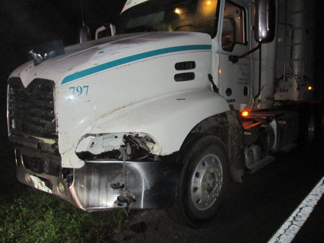 The Mac truck, post-collision. (FCSO)