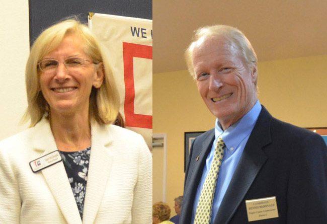 Janet McDonald and Dennis McDonald. (© FlaglerLive)
