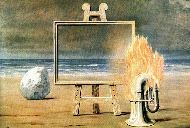 Where illusions end and marketing begins, with apologies to Magritte's 'Fair Captive' ('La Belle Captive,' 1931)