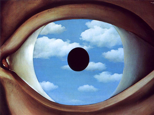 magritte's false mirror