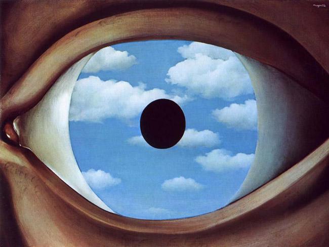 Magritte's 'False Mirror' (1928)