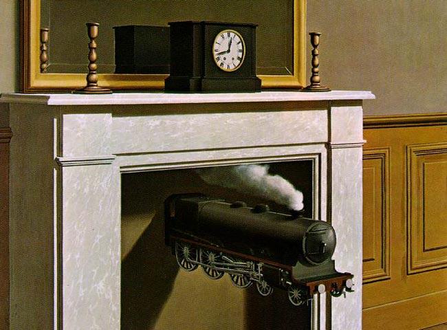 René Magritte's 'Time Transfixed' ('La Durée poignardée'), 1938.