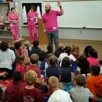 Dr. Jeremiah Mahoney at Rymfire Elementary.  Click on the image for larger view. (© FlaglerLive)