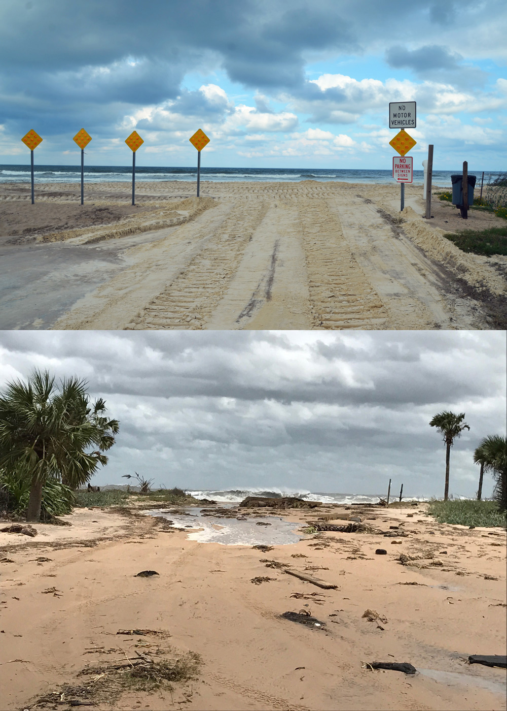 Before And After Nothing So Dramatically Ilrates The Of Hurricane Irma S Storm Surge On Flagler Than How It Remade Malacompra Park In