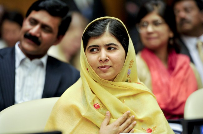 Malala Yousafzai at the United Nations in July. (United Nations Information Centres)