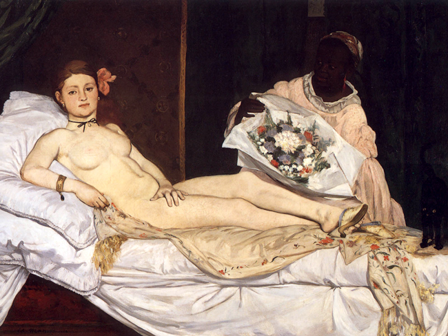 manet's olympia (1863)