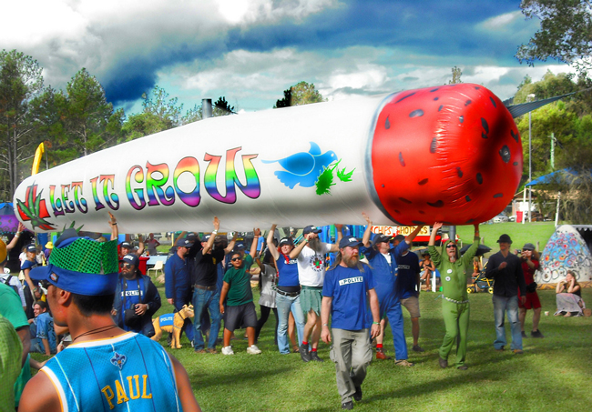 Not the way to go: 'Making marijuana available to anyone over the age of 21,' writes Steve Robinson, 'seems to me to be a sad statement of societal surrender, rather than an uplifting event.' (Mardi Gras 2011)