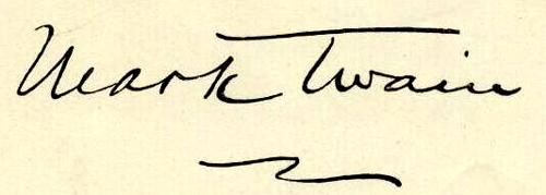 mark twain signature