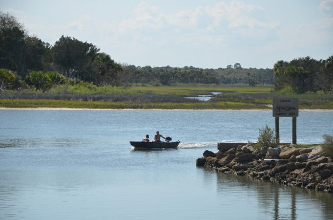 The area around Bings Landing, looking west across the Intracoastal toward marshes. (c FlaglerLive)