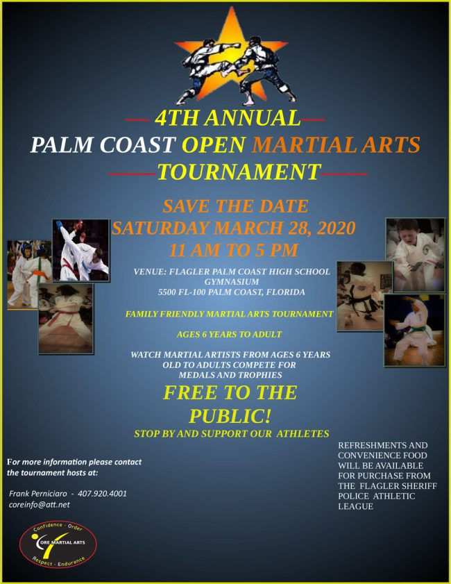 4th martial arts tournament palm coast