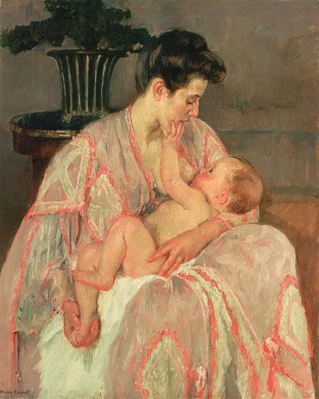 Mary Cassatt's 'Young Mother Nursing Her Child' (1906)