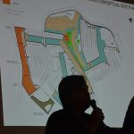 Alex Ustilovsky speaking about his proposed development around the Matanzas Woods golf course at a neighborhood meeting in December. (© FlaglerLive)