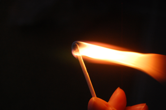 Light up responsibily. (© FlaglerLive) burn ban lifted (matches)
