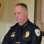 Flagler Beach Police Chief Matt Doughney, who's built a solid reputation as a centered, undramatic police chief and as the city's spokesperson since 2013, was appointed interim city manager today. He is leaving the door open to applying for the permanent job. (© FlaglerLive)