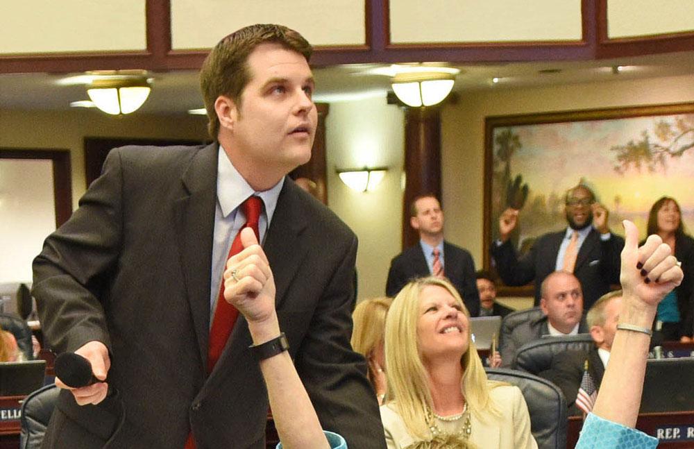 Matt gaetz when he was a Florida House member. (Florida House)