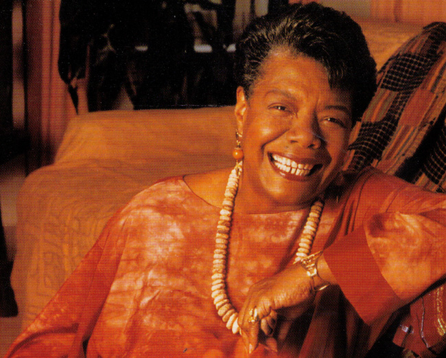 Maya Angelou, autobiographer in blues and jazz.
