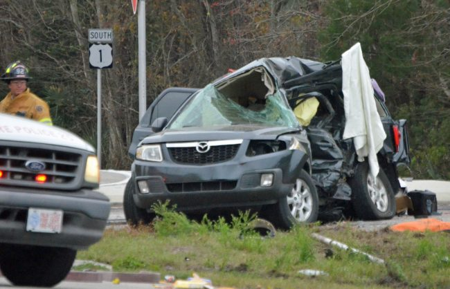mazda suv crash five fatalities