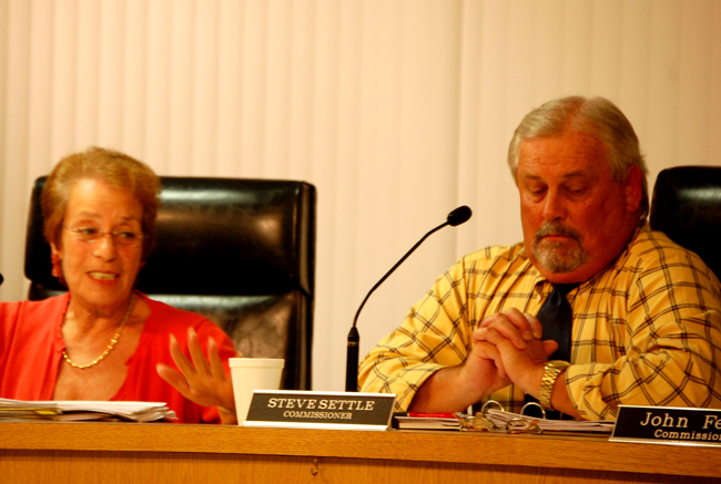 Flagler Beach commissioners Steve Settle and Jane Mealy