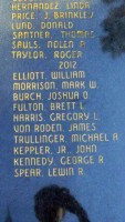 Keppler's name on the memorial in Ocala. Click on the image for larger view. (Andrew Keppler)