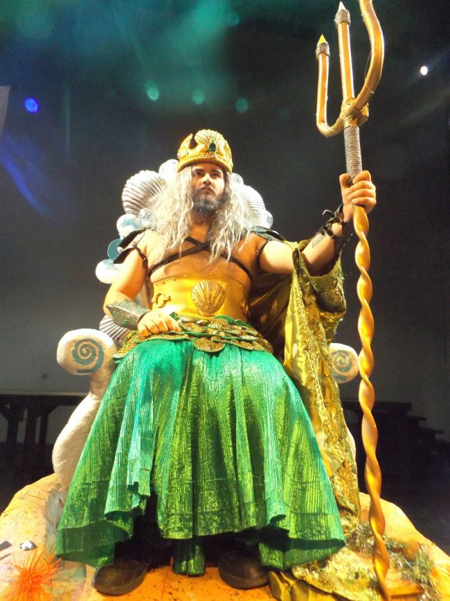 Michael Mendoza is King Triton. (© FlaglerLive)