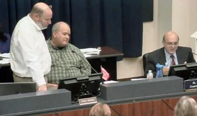Sidney Ansbacher, left, Planning Director Adam Mengel, and County Attorney Al Hadeed.