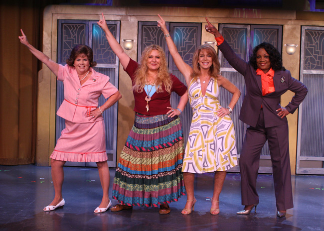 The cast of 'Menopause: The Musical,' dancing and singing about their favorite time of life.