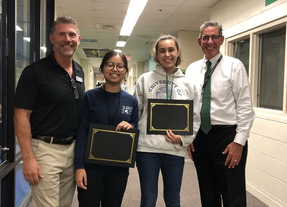 The National Merit Scholarship Corporation announced the names of approximately 16,000 Semifinalists in its 65th annual National Merit Scholarship Program. Two students from Flagler Palm Coast High School are on that list. They are Elizabeth Wolcott and Liying Wu. Both Wolcott and Wu now have the opportunity to compete for some 7,600 National Merit Scholarships worth more than $31 million that will be offered next spring. More details here. (Flagler Schools)