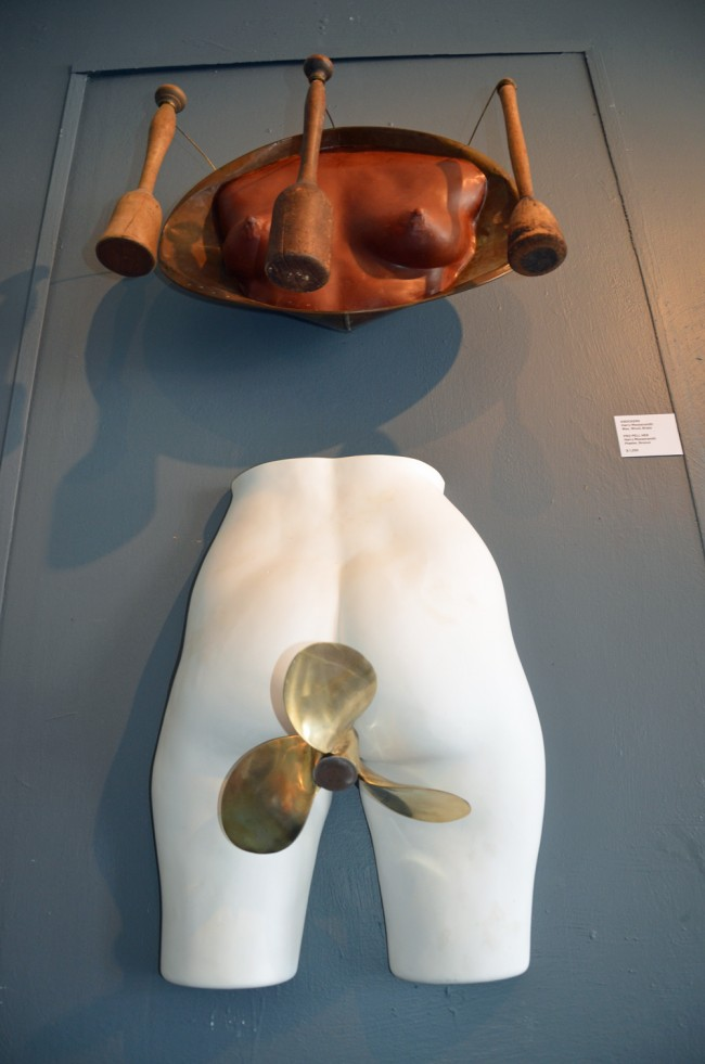 Harry Messersmith's 'Knockers,' top, and 'Pro Pel Her,' below. Click on the image for larger view. (© FlaglerLive)