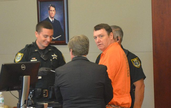 Michael Bowling after his sentencing on April 12 in court. (© FlaglerLive)
