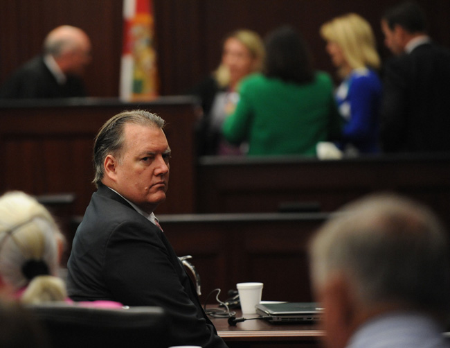 Michael Dunn will be sentenced to life in prison without parole. (Bob Mack, pool photo)