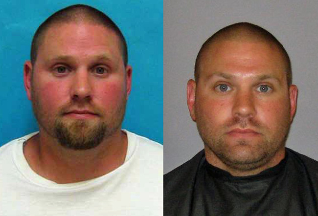 Michael Shudy in his Florida Department of Corrections photo, left, and in his previous booking photo at the Flagler County jail.