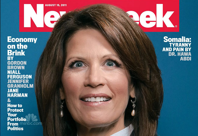 Turns out Chris Buck's portrait of Michelle Bachmann for last August's Newsweek cover story was dead on