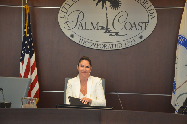 Palm Coast Mayor Milissa Holland. (c FlaglerLive) state of the city