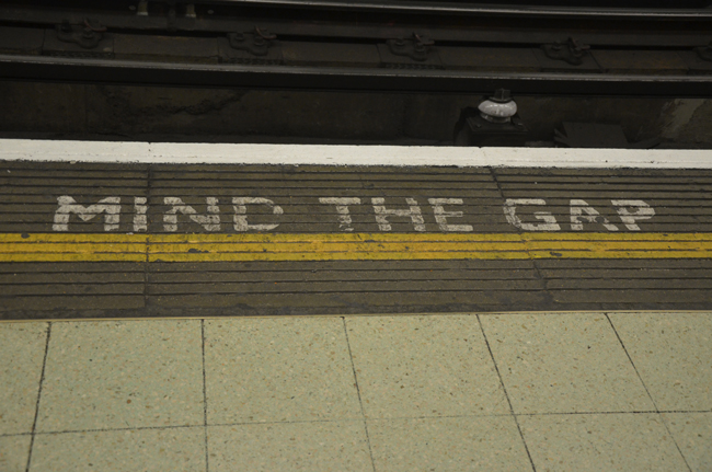 mind the gap subway london
